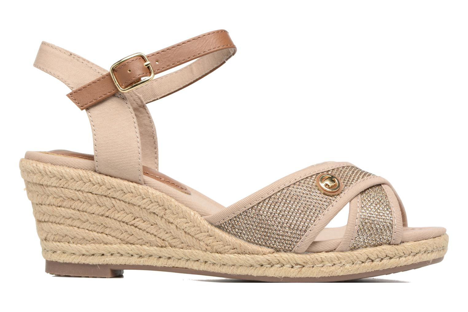 Sandals Tom Tailor Vulquin Beige back view
