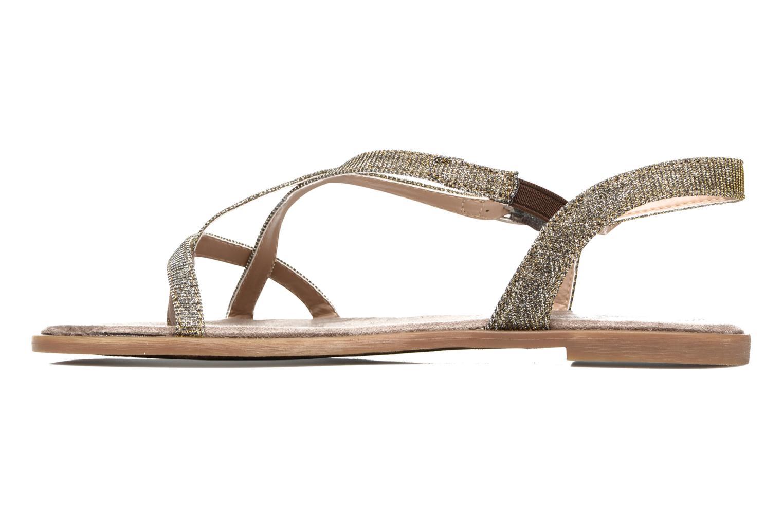 Sandales et nu-pieds Tom Tailor Guadal Or et bronze vue face