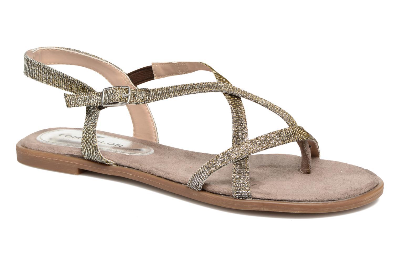 Sandales et nu-pieds Tom Tailor Guadal Or et bronze vue détail/paire
