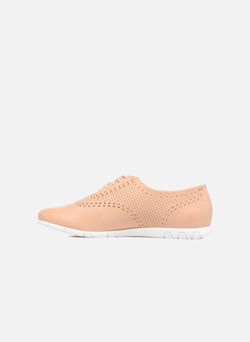 Chaussures à lacets Kickers Becki Beige vue face