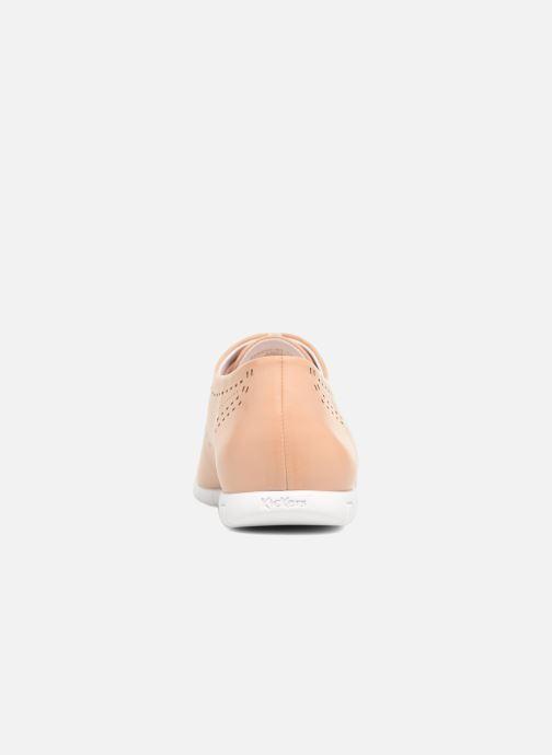 Chaussures à lacets Kickers Becki Beige vue droite