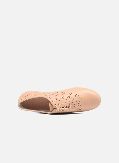 Chaussures à lacets Kickers Becki Beige vue gauche