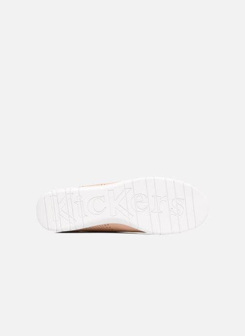 Chaussures à lacets Kickers Becki Beige vue haut