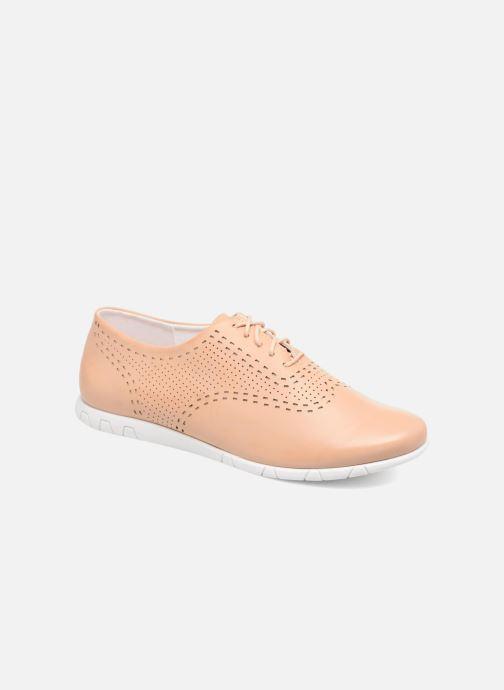 Chaussures à lacets Kickers Becki Beige vue détail/paire