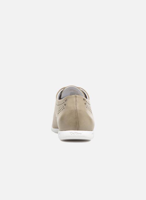 Zapatos con cordones Kickers Becki Gris vista lateral derecha