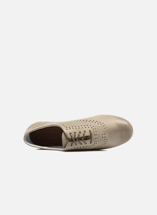 Zapatos con cordones Kickers Becki Gris vista lateral izquierda