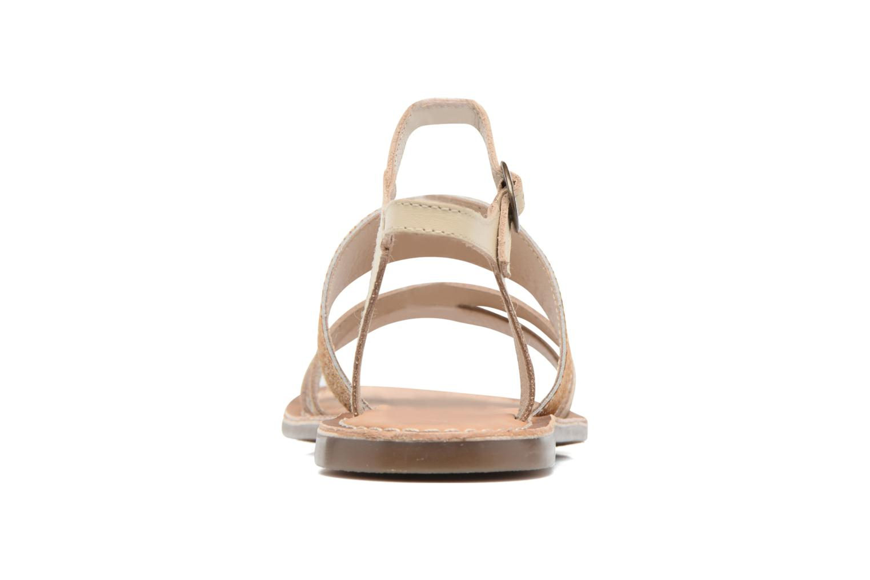 Sandaler Kickers Divatte Beige Se fra højre