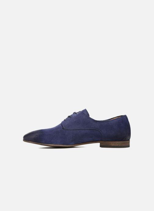 Zapatos con cordones Kickers Galla Azul vista de frente