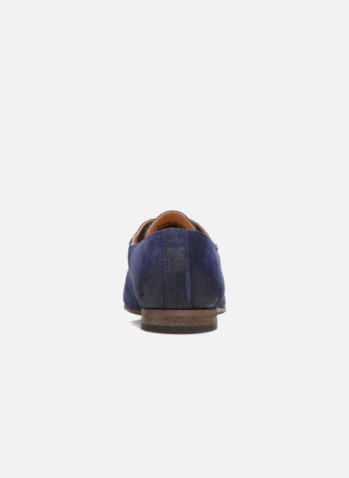 Zapatos con cordones Kickers Galla Azul vista lateral derecha