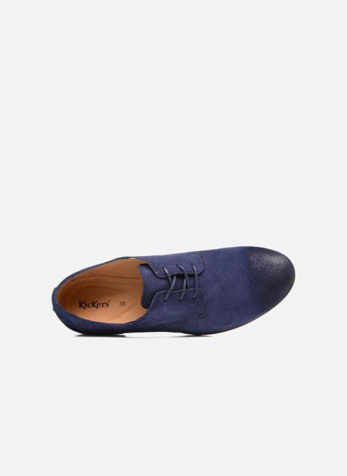 Zapatos con cordones Kickers Galla Azul vista lateral izquierda