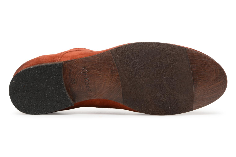 Schnürschuhe Kickers Galla orange ansicht von oben