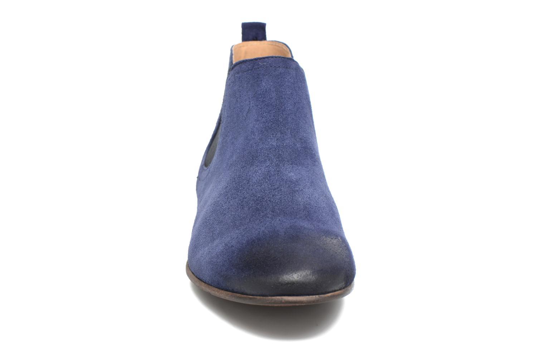 Bottines et boots Kickers Gazette Bleu vue portées chaussures