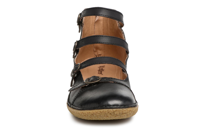 Ballerines Kickers Honoree Noir vue portées chaussures