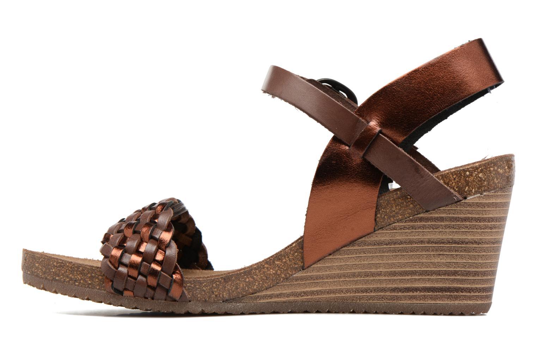 Sandales et nu-pieds Kickers Splendid Marron vue face