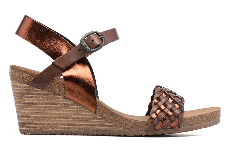 Sandales et nu-pieds Kickers Splendid Marron vue derrière