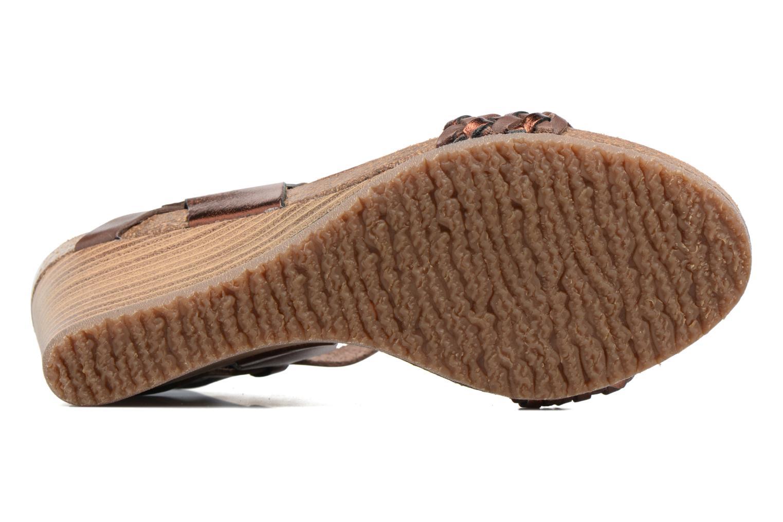 Sandales et nu-pieds Kickers Splendid Marron vue haut