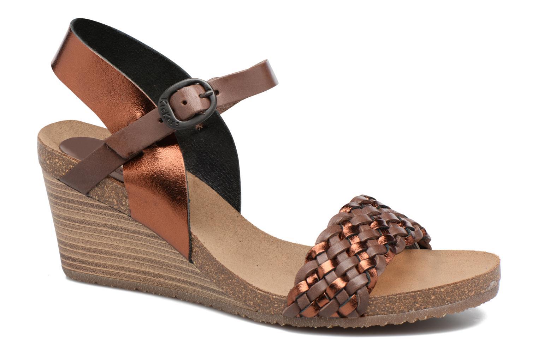 Sandales et nu-pieds Kickers Splendid Marron vue détail/paire