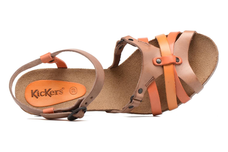 Sandales et nu-pieds Kickers Split Multicolore vue gauche