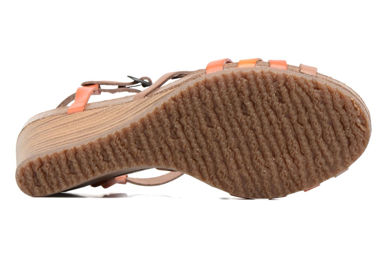 Sandales et nu-pieds Kickers Split Multicolore vue haut