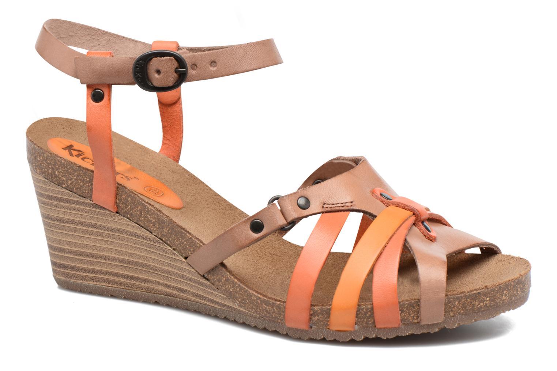Sandales et nu-pieds Kickers Split Multicolore vue détail/paire