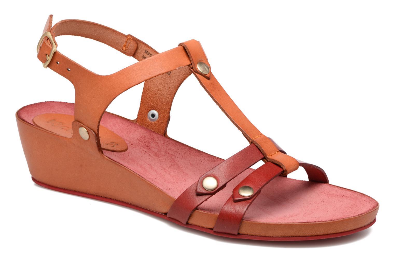 Sandaler Kickers Takit Orange detaljeret billede af skoene