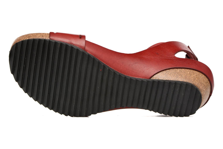 Sandalen Kickers Tokrom rot ansicht von oben