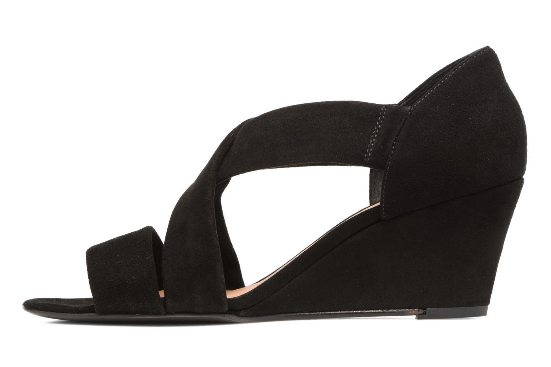 Sandalen COSMOPARIS Vika/Vel Zwart voorkant