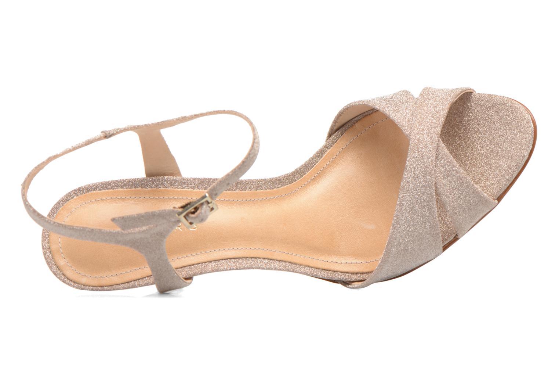 Sandals COSMOPARIS Alia/Diam Bronze and Gold view from the left