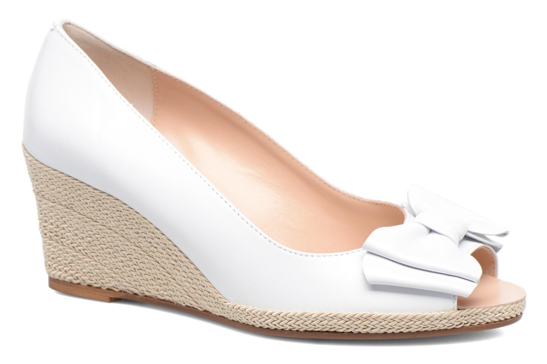 High heels COSMOPARIS Loena White detailed view/ Pair view
