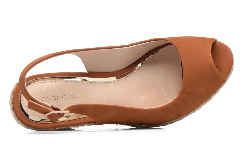 Sandali e scarpe aperte COSMOPARIS Lany Marrone immagine sinistra