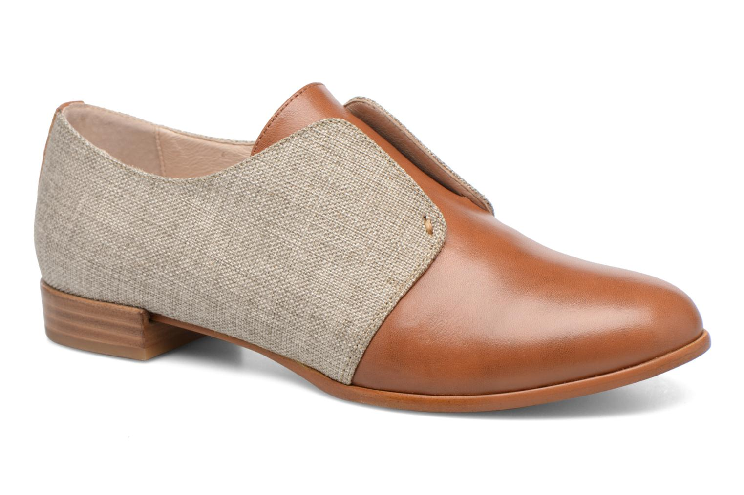 Loafers COSMOPARIS Emico/Lin Brown detailed view/ Pair view