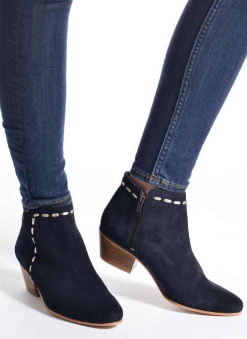 Bottines et boots COSMOPARIS Fenoa/Vel Bleu vue bas / vue portée sac