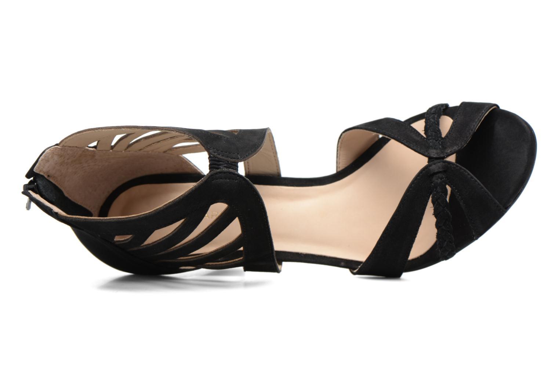 Sandales et nu-pieds COSMOPARIS Jaza/Bi Noir vue gauche