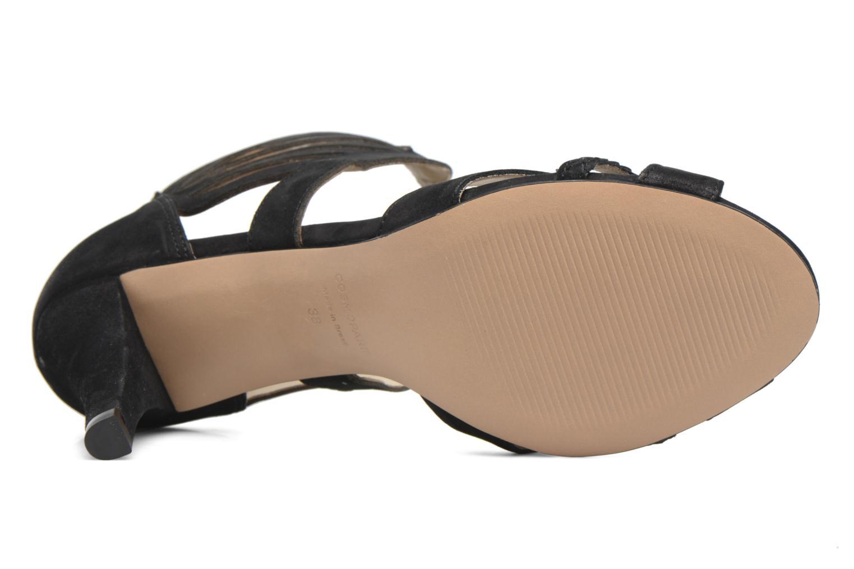Sandales et nu-pieds COSMOPARIS Jaza/Bi Noir vue haut