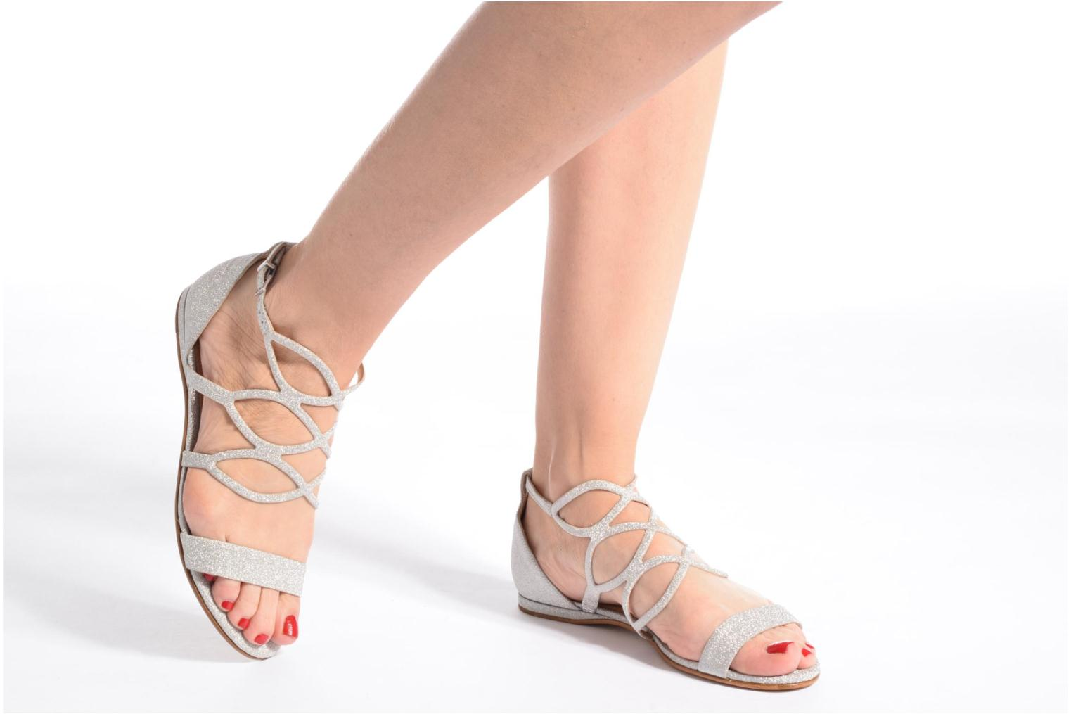 Sandals COSMOPARIS Alinoa/Diam Silver view from underneath / model view