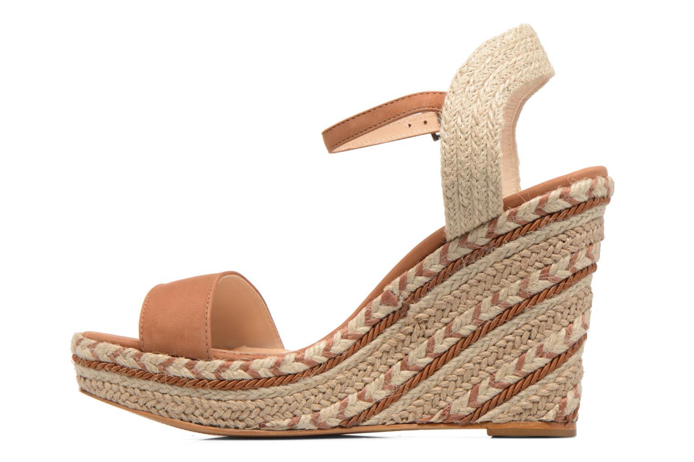 Sandals COSMOPARIS Agaya Brown front view