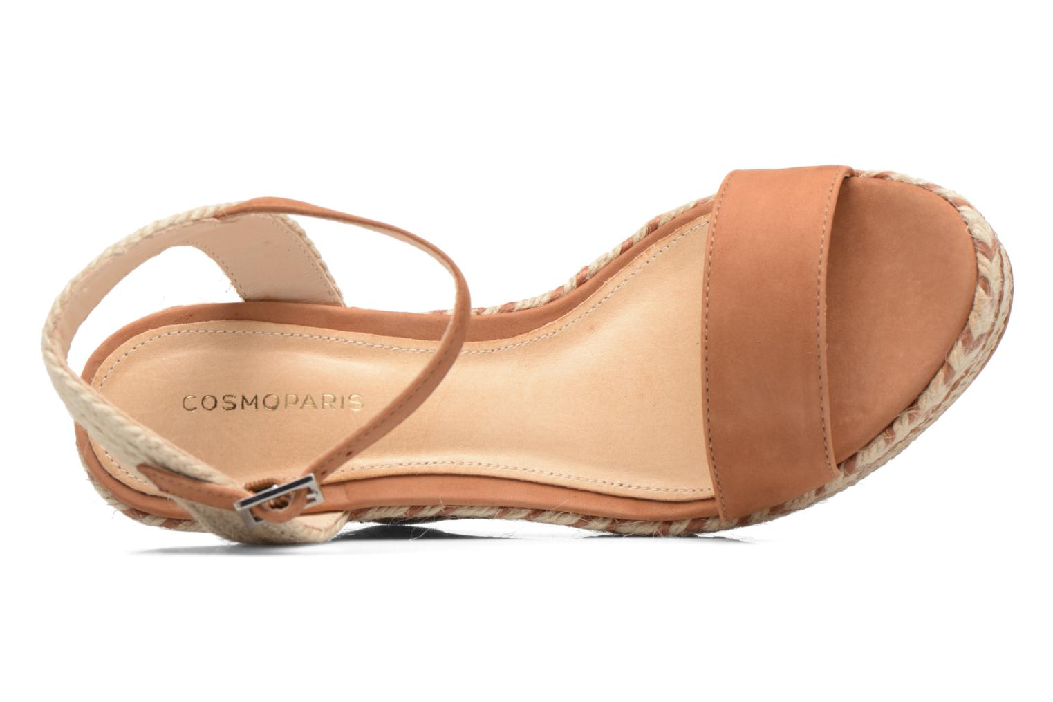 Sandals COSMOPARIS Agaya Brown view from the left
