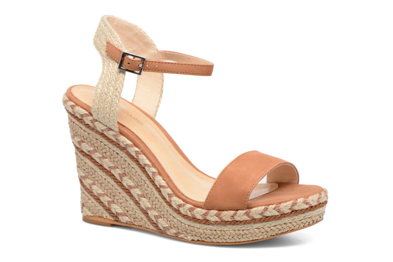 Sandals COSMOPARIS Agaya Brown detailed view/ Pair view
