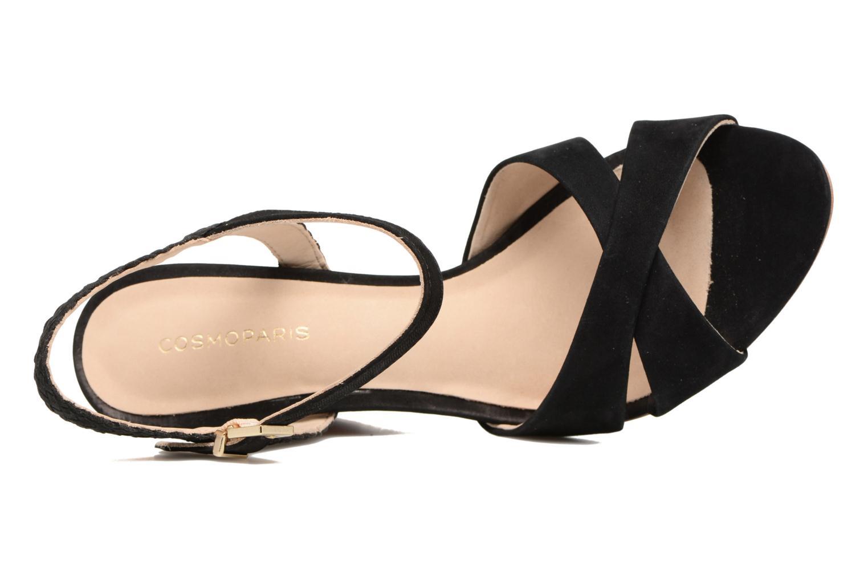 Sandales et nu-pieds COSMOPARIS Jopia/Nub Noir vue gauche
