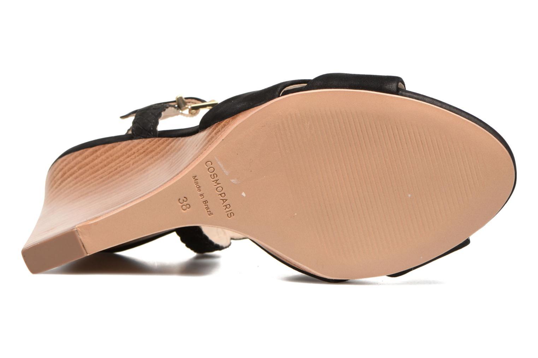 Sandales et nu-pieds COSMOPARIS Jopia/Nub Noir vue haut