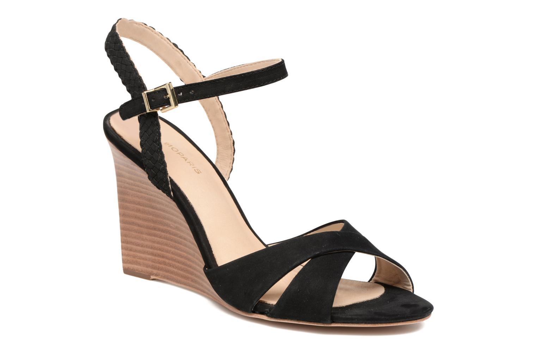 Sandales et nu-pieds COSMOPARIS Jopia/Nub Noir vue détail/paire