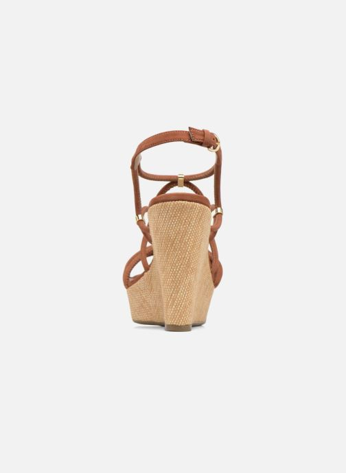 Sandals COSMOPARIS Carminin/Nub Brown view from the right