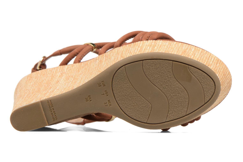 Sandalen COSMOPARIS Carminin/Nub braun ansicht von oben