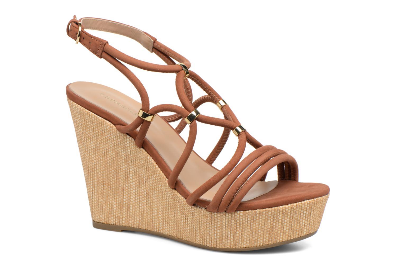 Sandaler COSMOPARIS Carminin/Nub Brun detaljeret billede af skoene