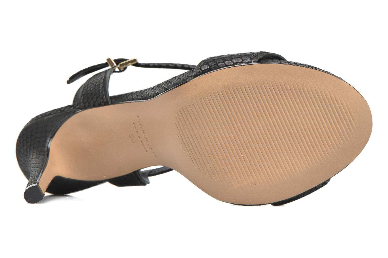Sandales et nu-pieds COSMOPARIS Jadia/Pyt Noir vue haut