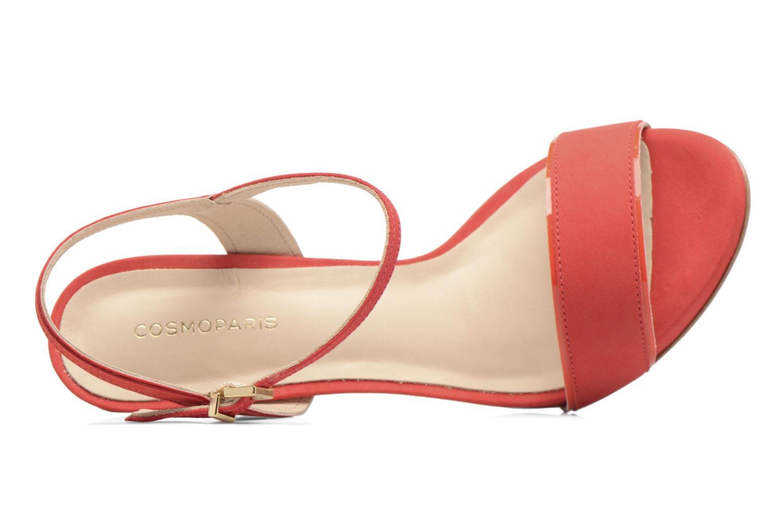 Sandales et nu-pieds COSMOPARIS Jadia/Nub Rouge vue gauche