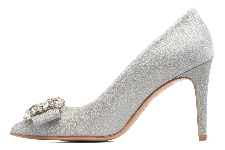 High heels COSMOPARIS Manifika/Diam Silver front view