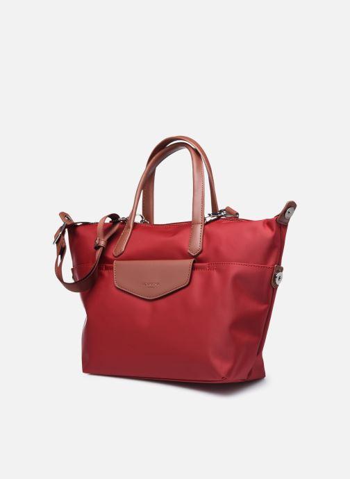 Bolsos de mano Hexagona Cabas Nylon Porté main S Rojo vista del modelo