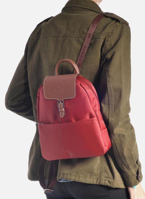 Sacs à dos Hexagona Sac à dos nylon Rouge vue bas / vue portée sac