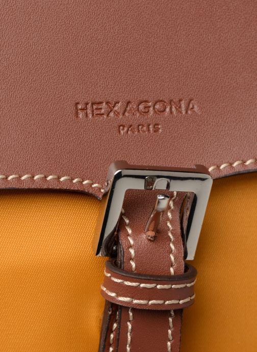 Sacs à dos Hexagona Sac à dos nylon Jaune vue gauche